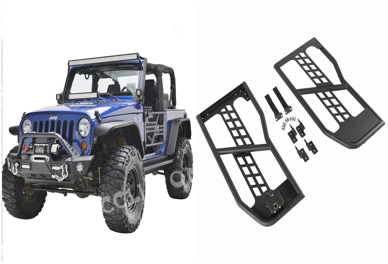 cclipton 07-17 Jeep Wrangler JK Unlimited 2 Door Safari Steel Tube Doors with Mirror