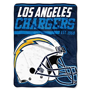 The Northwest Company NFL Los Angeles Chargers Micro Raschel Throw, One Size, Multicolor