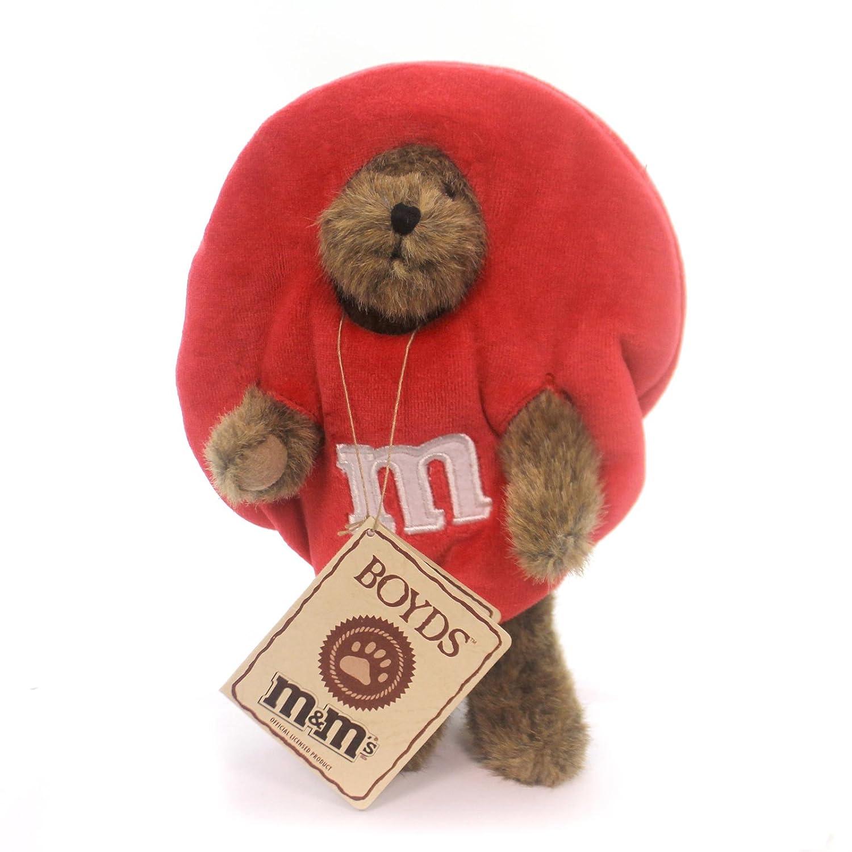 Boyds Bears Plush R M PEEKER Fabric M /& M Red Milk Chocolate Bear 919003 Enesco