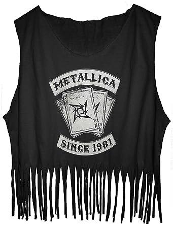 637d08161d3beb Amazon.com  JDS FRINGE Tank Top Metallica Since 1981 Tee Four Horsemen (see  size detail)  Clothing