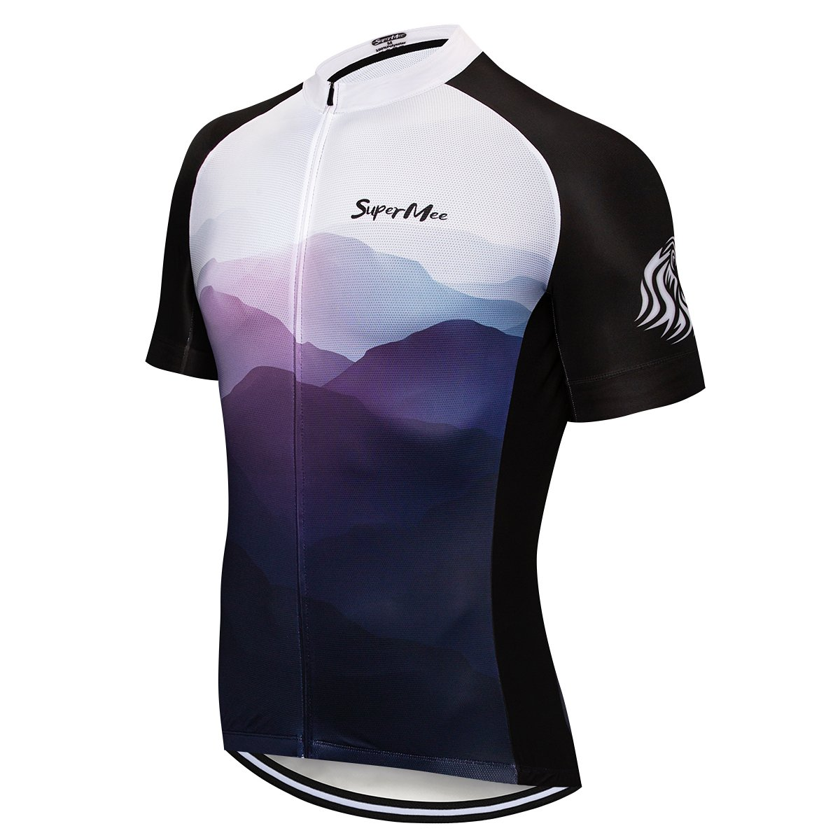 7a402cd6c Amazon.com  SuperMee Men s Short Sleeve Cycling Jersey Loose Fit Bike Shirts  Full Zipper Breathable Bike Jerseys Pocket Lightweight  Clothing