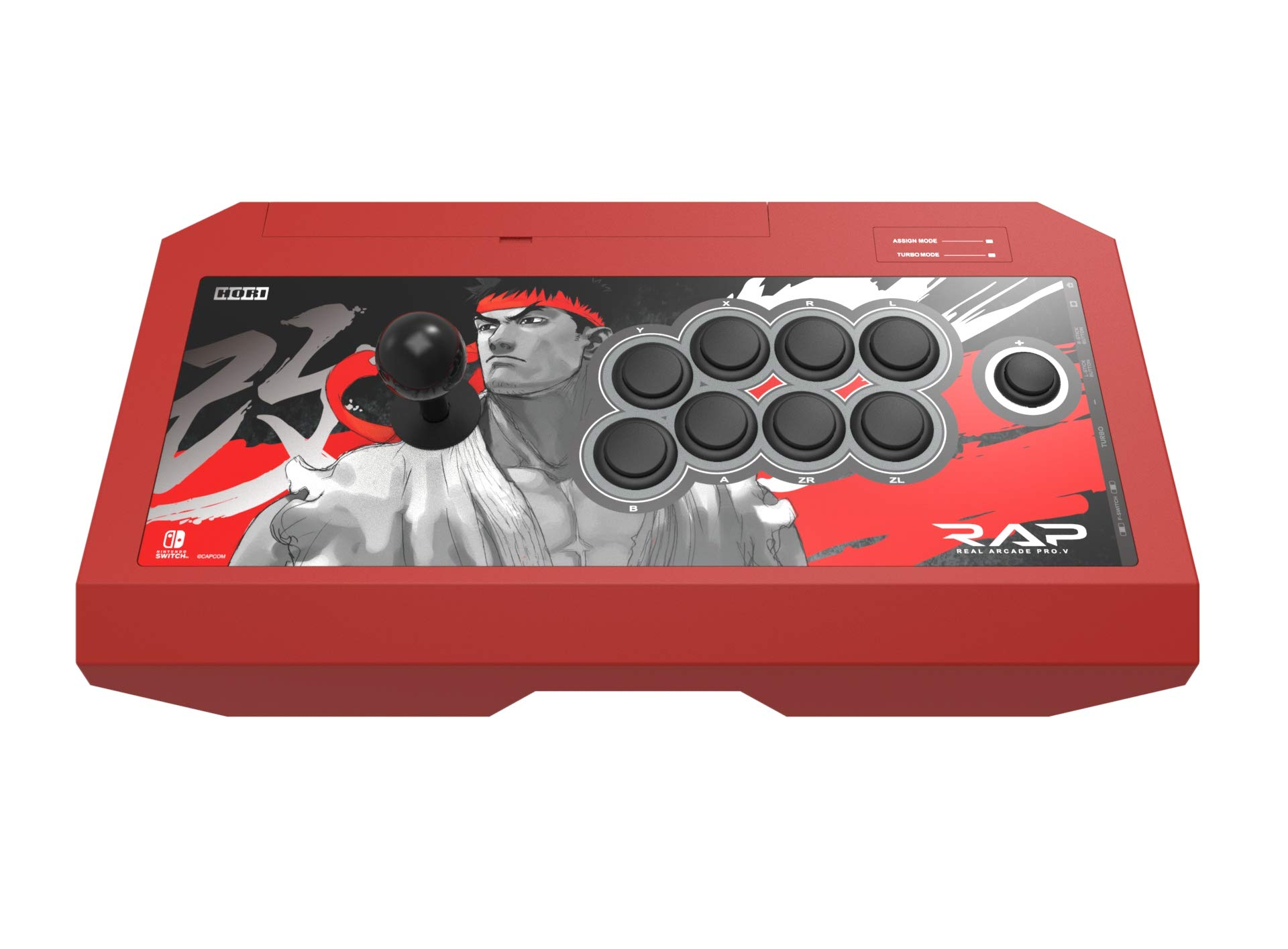 HORI Nintendo Switch Real Arcade Pro - Street Fighter Edition (Ryu) Officially Licensed By Nintendo & Capcom - Nintendo Switch