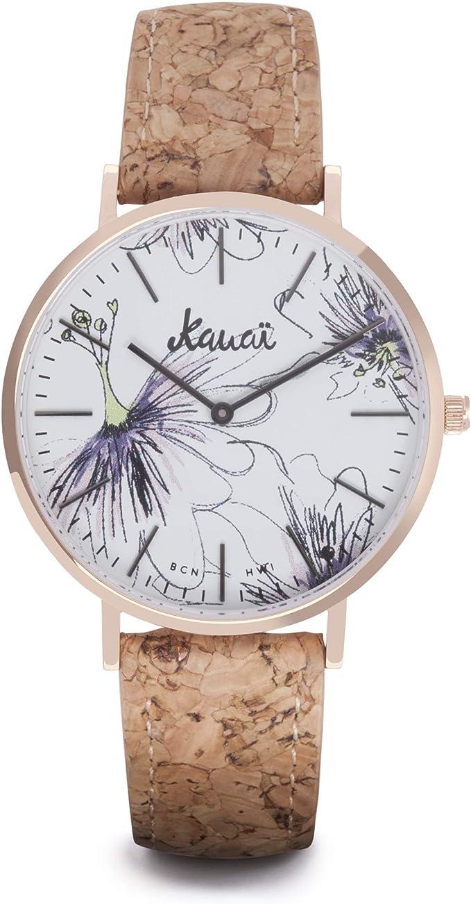 Reloj de Flores Mujer Napali Pua   Estampado   38mm   Caja de ...