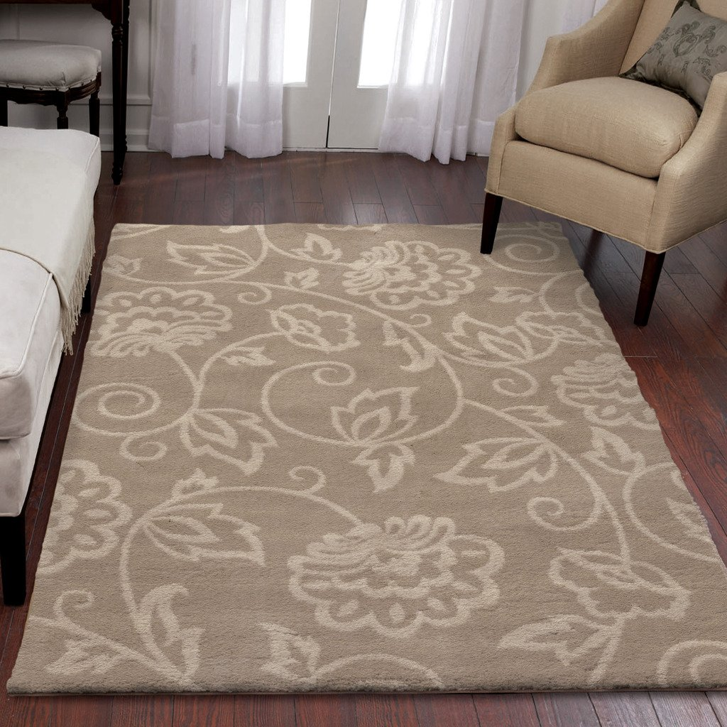 Orian Rugs Floral Abegail Beige Area Rug (5'3 x 7'6) 324433