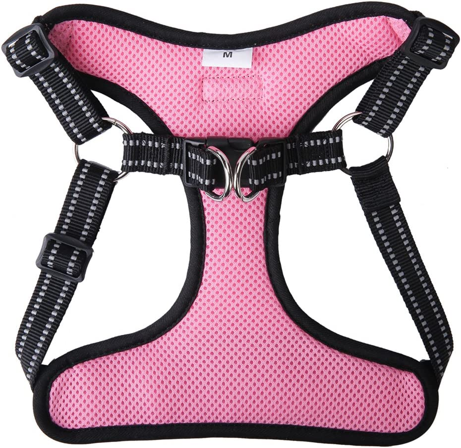 Step in No Pull Adjustable Soft Pet Padded Walking Vest Harness BINGPET Small Mesh Dog Harness Reflective