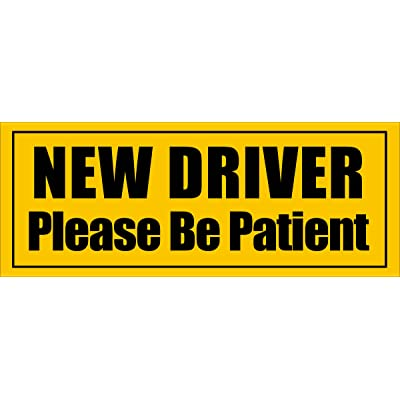 American Vinyl Magnetic New Driver Please Be Patient Magnet (Safe car Safety Drive): Automotive