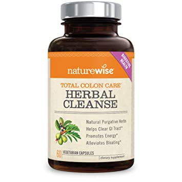 NatureWise Herbal Detox Cleanse Laxative Supplements — Natural Colon  Cleanser Herb & Fiber Blend for Constipation