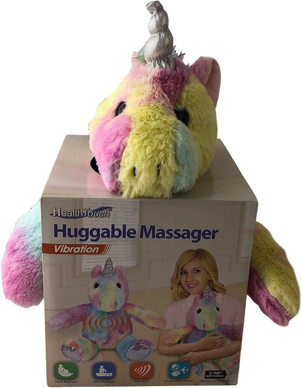 Rainbow Unicorn Plush Animal Huggable Massager Comfort Relax Kids Dinosaur Kitty Unicorn