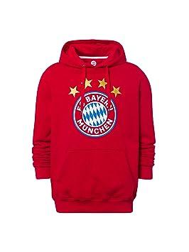 cc414406724 FC Bayern Múnich Sudadera Logo Rojo  Amazon.es  Deportes y aire libre