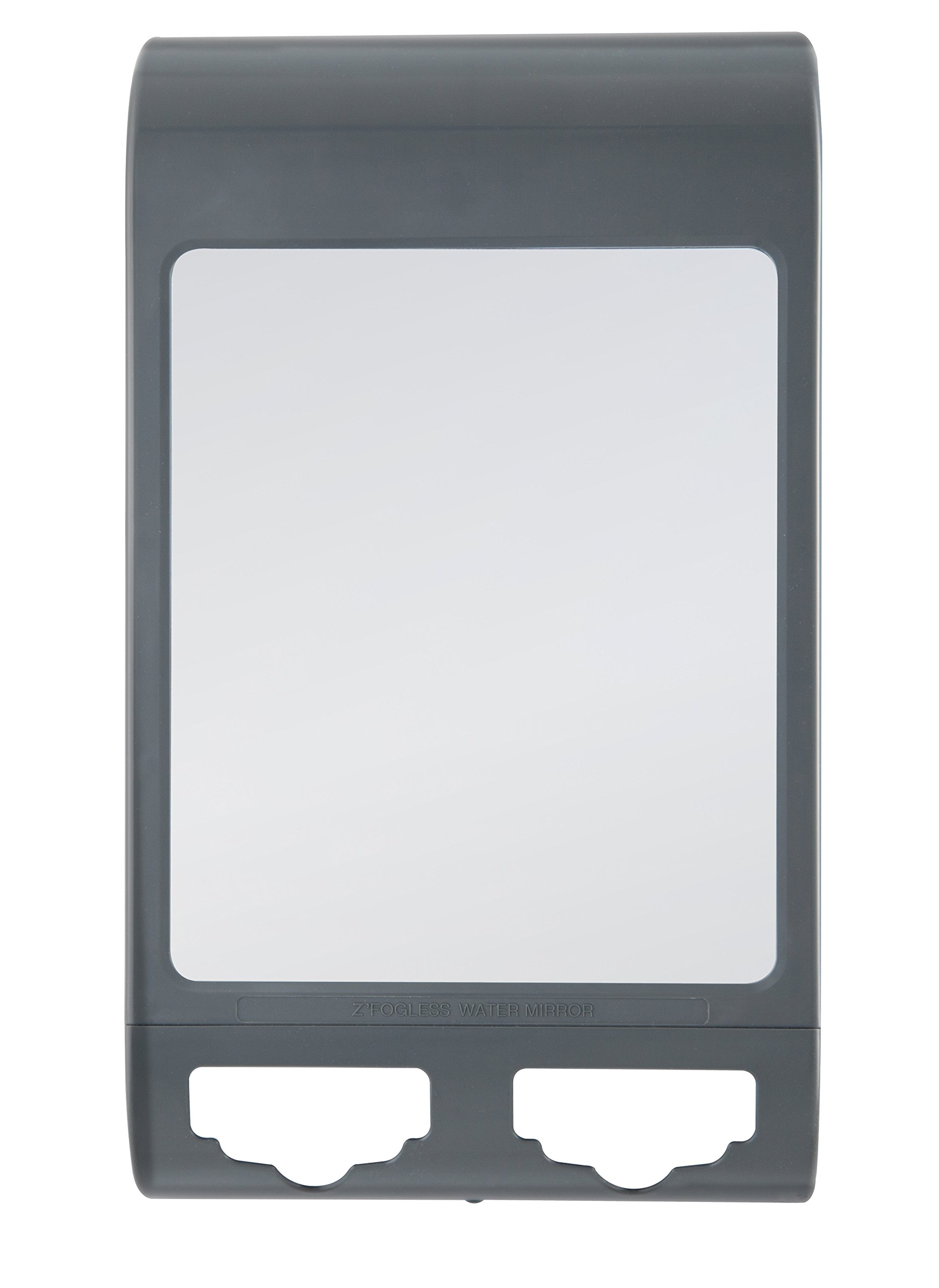 Zadro Fogless Water Mirror with Dual Accessory Holder, Midnight Gray