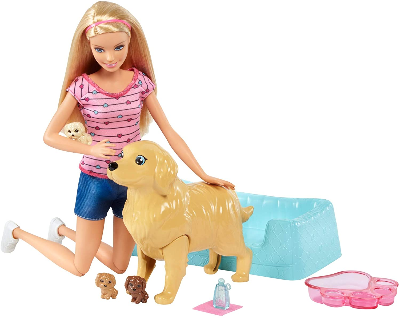 Barbie-Newborn-Pups-Doll-Blonde