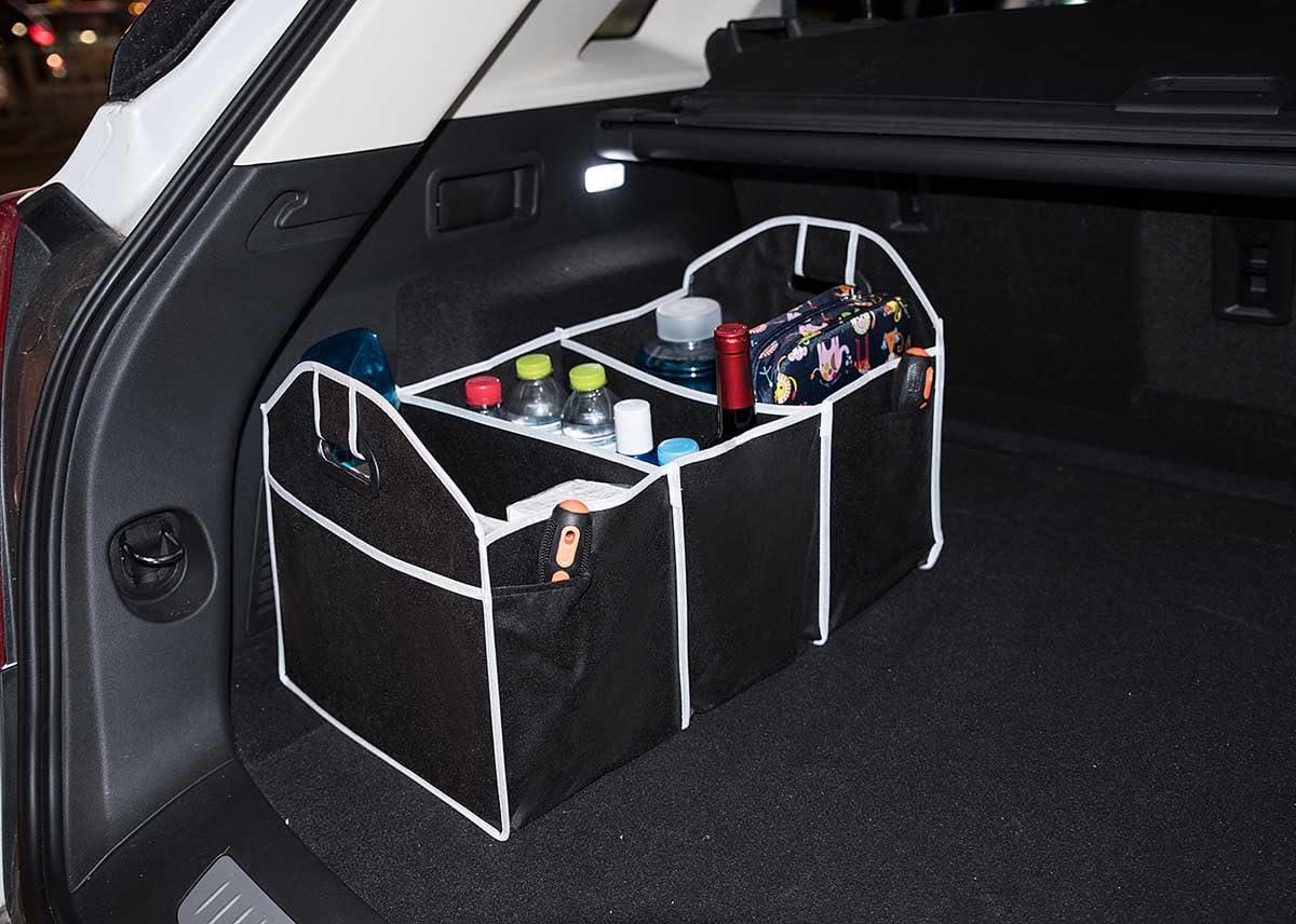 Autoark Multipurpose collapsible Car SUV Trunk Organizer Car SUV Trunk Storage,21 x 12.5 x 10 inches,AK-051