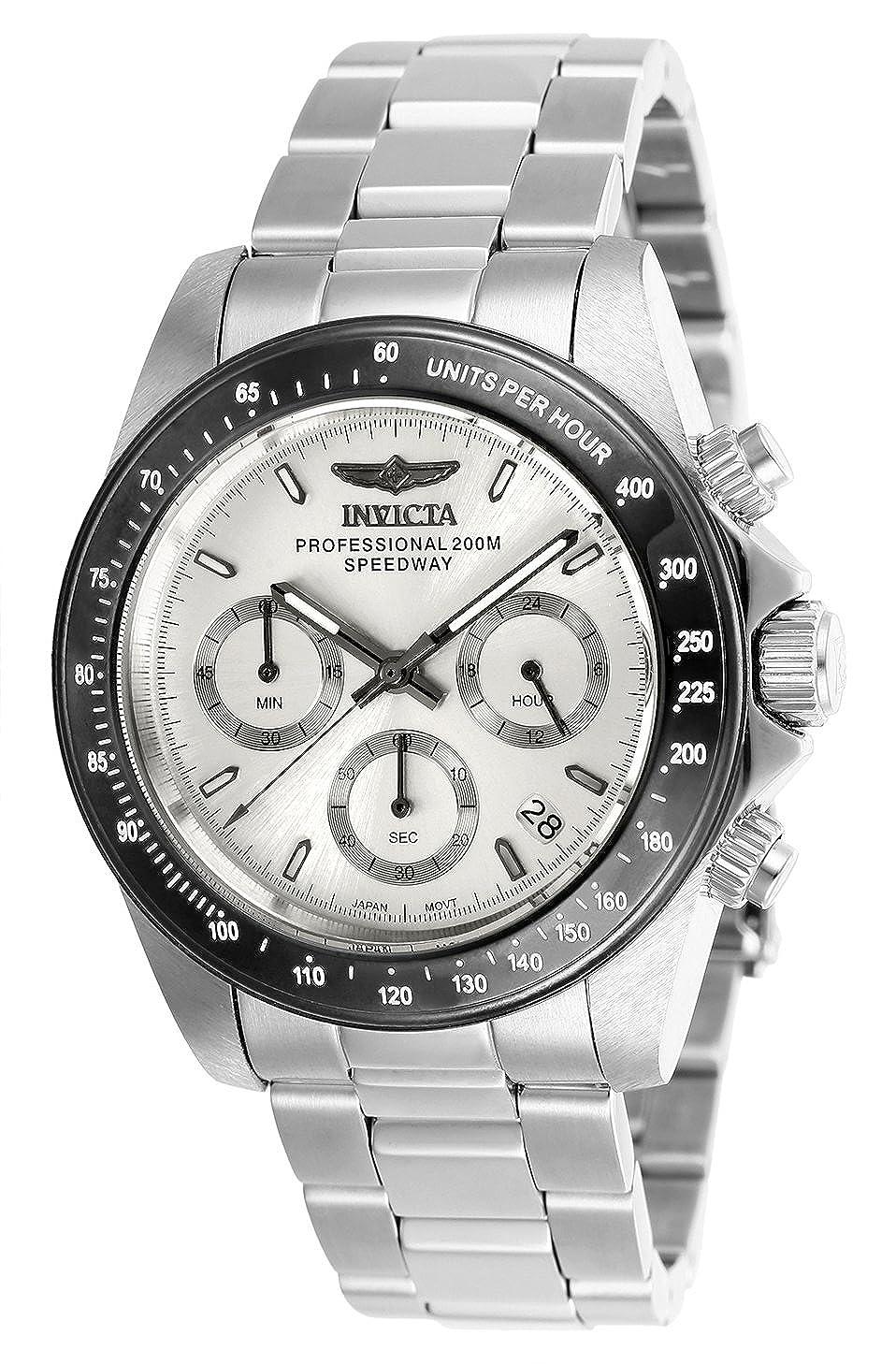23cfaa25ed6 Invicta 26111 Speedway Unisex Wrist Watch Stainless Steel Quartz Silver  Dial  Amazon.co.uk  Watches