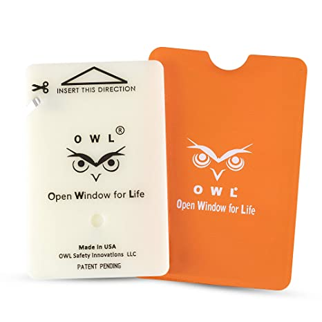 Superb Owl Car Window Breaker And Seatbelt Cutter Card Auto Crash Emergency Escape Tool Life Saving Survival Kit 2 In 1 Tool Made In Usa Orange Ocoug Best Dining Table And Chair Ideas Images Ocougorg