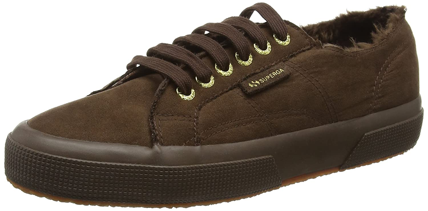 Superga 2750 Syntshearlingm, Zapatillas Unisex Adulto 42.5 EU|Marrón (T11 Brown)