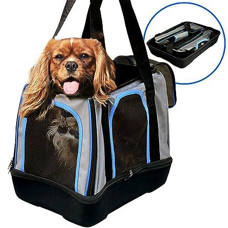 b7af6653f8 MyDeal Pop Up Pet Bag Carrier Crate with Weather Resistant Oxford Material,  EVA Molded Bottom