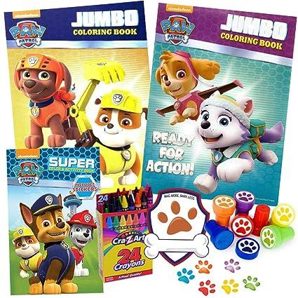 Amazon Com Paw Patrol Coloring Books 6 Piece Travel Gift