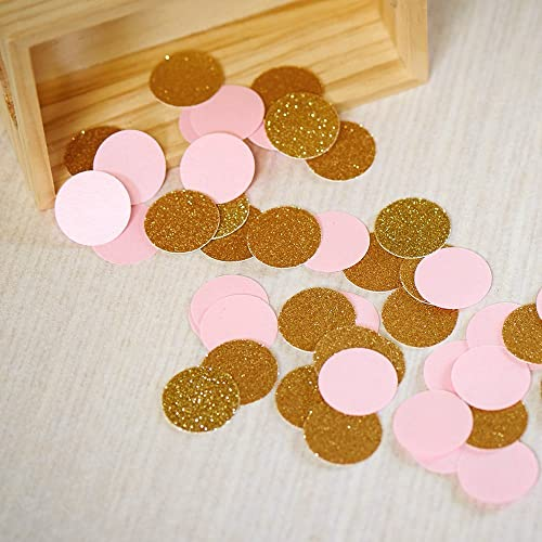 2 Packs . 30th Birthday Decor Number and Circle Confetti in Glitter Gold and Coral 50ct each