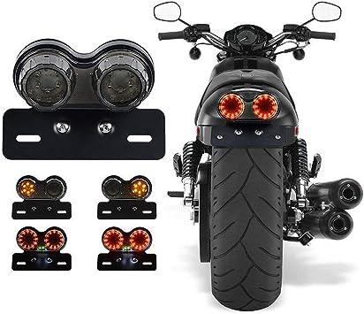 Haneu Blinker Motorrad Bremse Hinten Licht Signal Nummernschild Mit Halterung Universal Für Dirt Bike Custom Chopper Auto