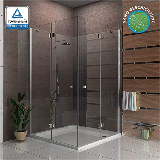 Alpenberger - Cabina de ducha antical para esquina, 140 x 140 x 195 cm, ducha de esquina