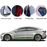 BASENOR Tesla Model 3 Model Y Model S Door Seal Kit Soundproof Rubber Weather Draft Seal Strip Wind Noise Reduction Kit…
