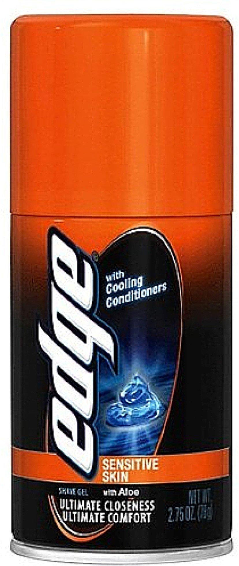 Edge Shave Gel, Sensitive Skin with Aloe 2.75 oz (Pack of 2)