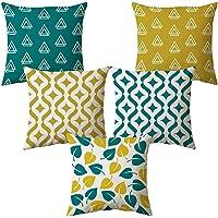 AEROHAVEN Set of 5 Multi Colored Decorative Hand Made Jute Cushion Covers - CC14 -