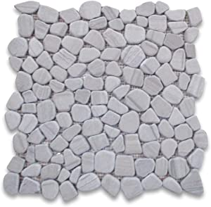 Stone Center Online Athens Grey Marble Pebble Stone Shower Floor Tile