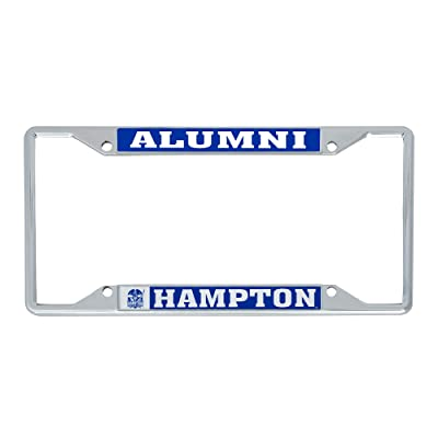 Desert Cactus Hampton University HBCU Virginia Pirates NCAA Metal License Plate Frame for Front Back of Car Officially Licensed (Alumni): Automotive