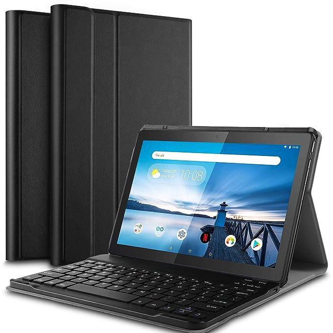 Amazon.com: IVSO Lenovo TAB M10 - Funda con teclado para ...