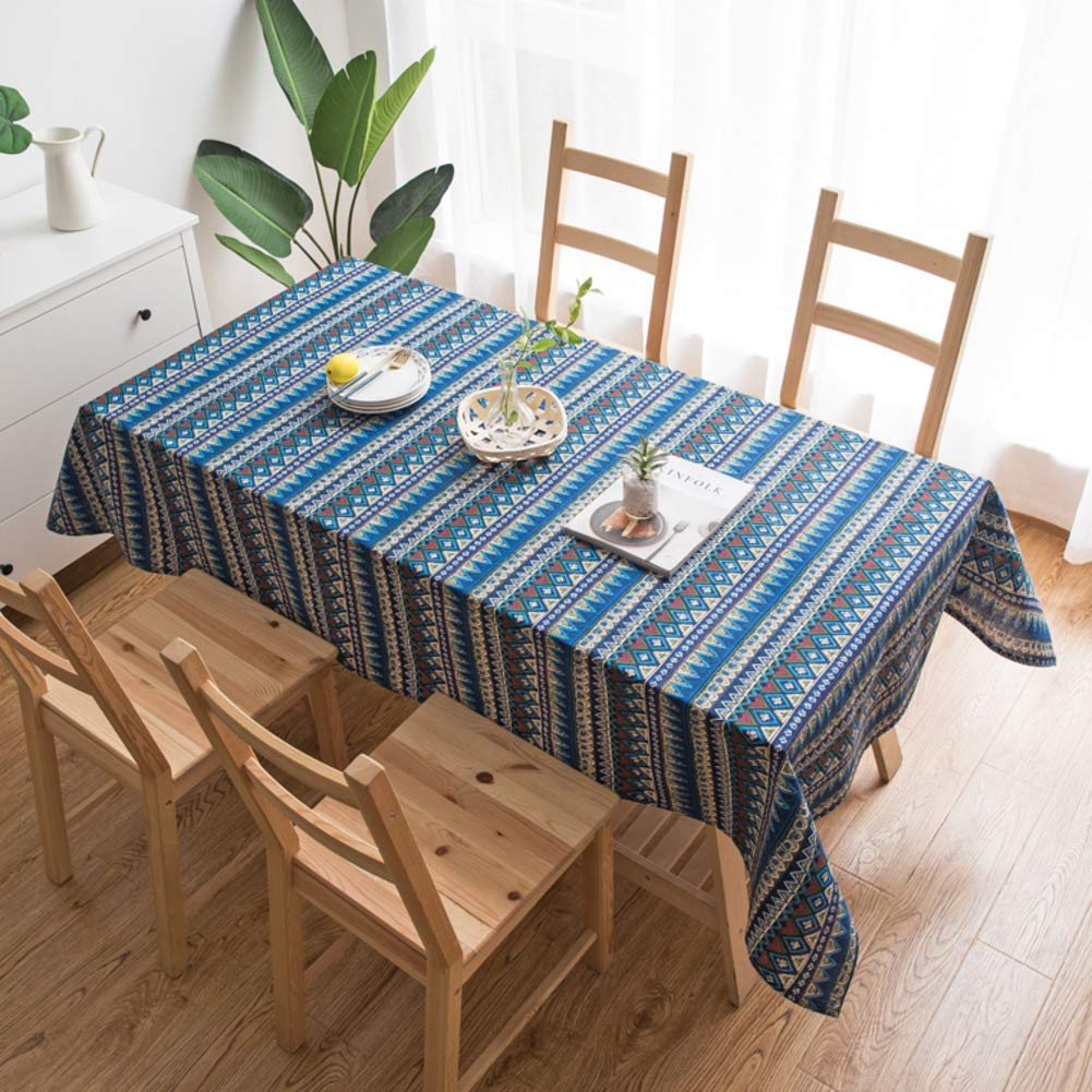 Der Cotton Retro Tableclothss,Rectangular Home Tea Table Tableclothssloth,for Dining Table Study Room (Color : B, Size : 140x140cm(55x55inch))