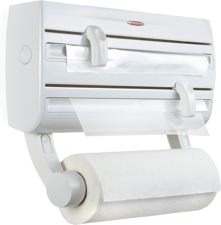 Dispensador 2en1 Dispensador con Cuchilla de Papel de Aluminio Film Space Home Portarrollo para Papel de Aluminio Bamb/ú