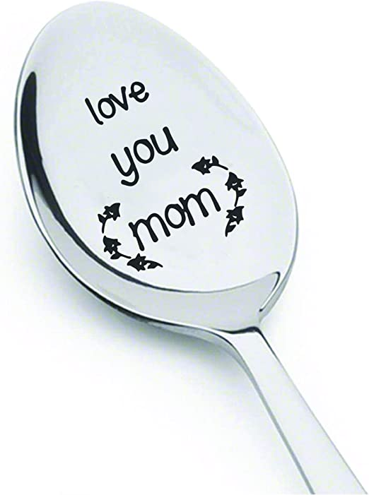 Amazon Com Love You Mom Gifts For Mom Birthday Gifts For Women Coffee Spoon Mom Gift Engraved Spoon Stainless Steel Birthday Gifts Mothers Day Gifts