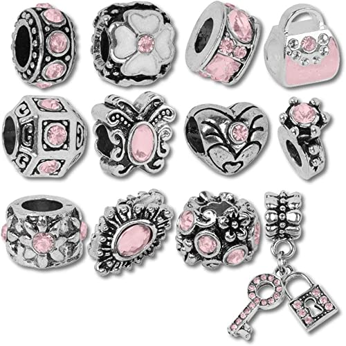 European Charm Bracelet Charms and Beads For Women and Girls Jewelry Birthstone