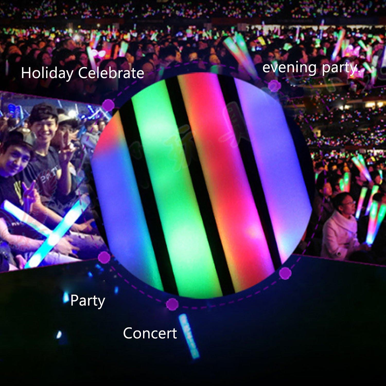 36PCS LED Glow Sticks ,Beetest/® Aste Fluorescenti LED Colorato Spugna Glow Stick,Fluorescenti Glowsticks per Concerto//Club Allegria