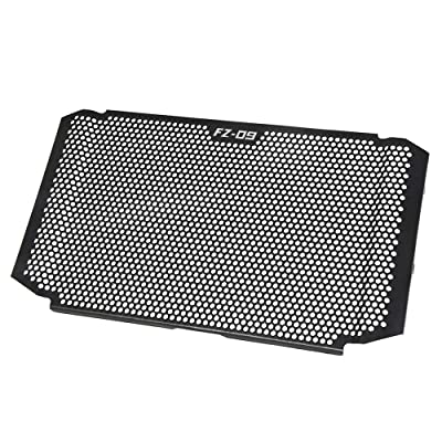 FZ09 Motorcycle Radiator Grille Guard Cover Aluminum Alloy Protector for Yamaha FZ09 FZ 09 FZ09 2020 2020 2020(BLACK): Automotive