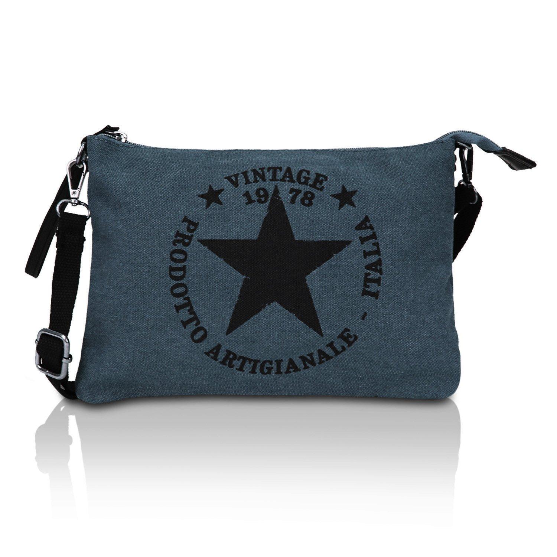 Glamexx24 Sacs sac à bandoulière sac à bandoulière sac à bandoulière avec sac de transport motif étoile Mod.23195