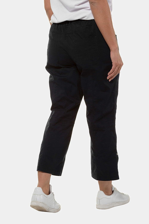 ULLA POPKEN Gro/ße Gr/ö/ßen Cargohose mit Krempelbein Pantaloni Donna