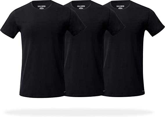 Pair of Thieves Men's Slim Fit Crew Neck T-Shirts, 3 Pack Super Soft Tees, AMZ Exclusive