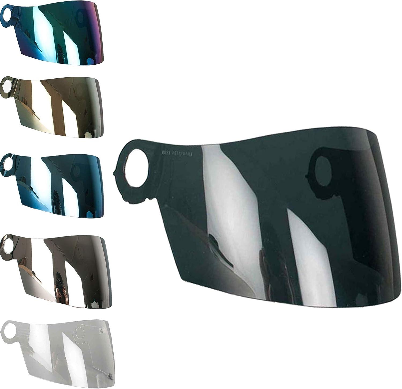 Visiere Suomy Apex Spec 1R Extreme Excel Casque Transparent Fume bleu or arc-en-ciel Aftermarket Fume Fonc/é