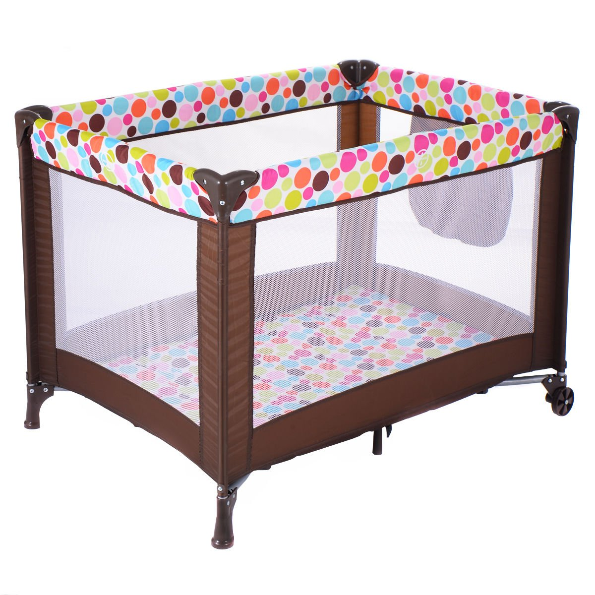 Playard Baby Bassinet Travel Portable Bed Playpen Toddler Foldable