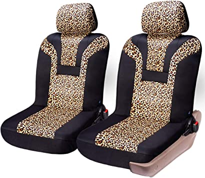 Amazon Com Coolbebe Car Seat Covers Leopard Pattern Integrated Auto Seat Cover Car Protector Interior Accessories Airbag Compatible Universal Fits For Cars Suv Truck Automotive