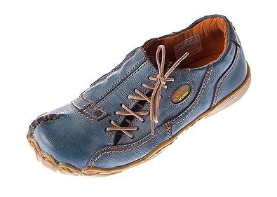 357fee91d4c7fb TMA Comfort Damen Leder Schuh von Eyes Blau Used Look Schuhe Echt Leder Gr.  36