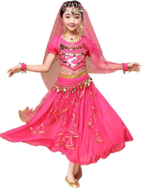 Amazon.com: astage niña danza del vientre indio de ...