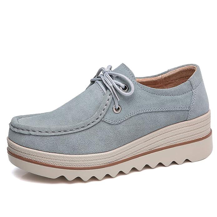 tqgold Mujer Mocasines Plataforma Casual Loafers Primavera Verano Otoño Zapatos de Cuña 5.5cm: Amazon.es: Zapatos y complementos