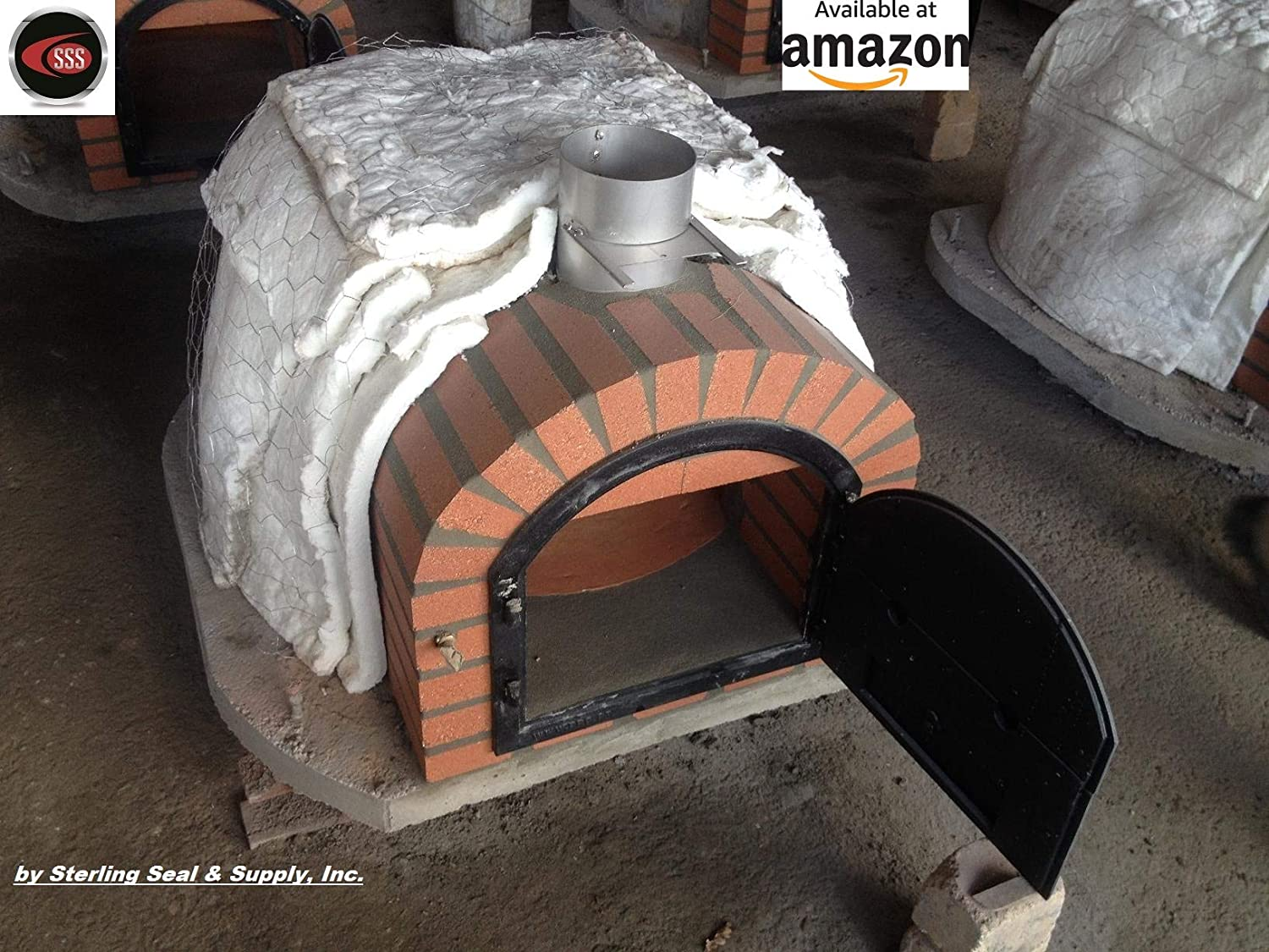 10 Pack Pizza Ovens Fireplaces /& More - Kilns 6x12x1 Ceramic Fiber Blanket Insulation 6# 2300F for Wood Stoves Forges