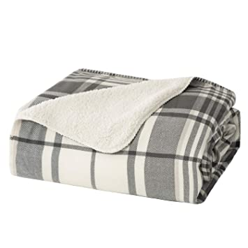 Black And White Plaid Blanket.Bedsure Sherpa Plaid Blanket Twin Size For Sofa And Couch Soft Cozy Bedding Blanket Black White 60 X 80 Inches