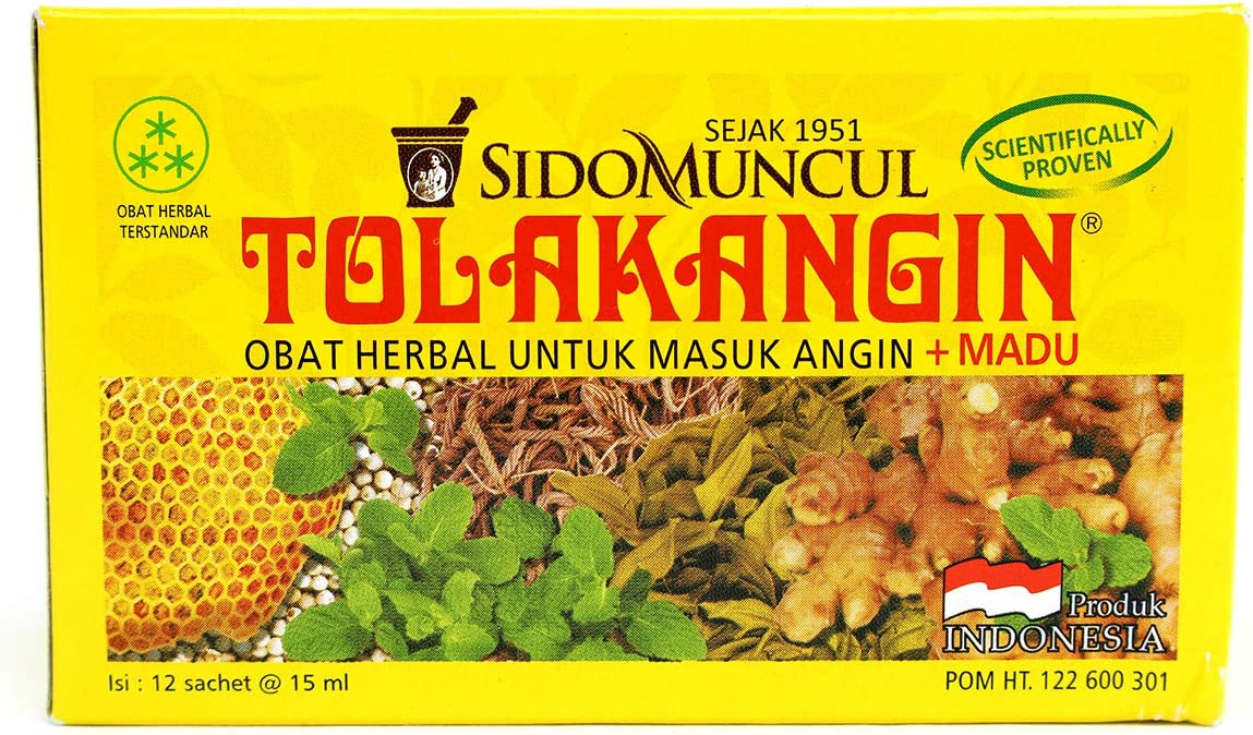 Tolak Angin Sido Muncul 12-ct, 180 Ml