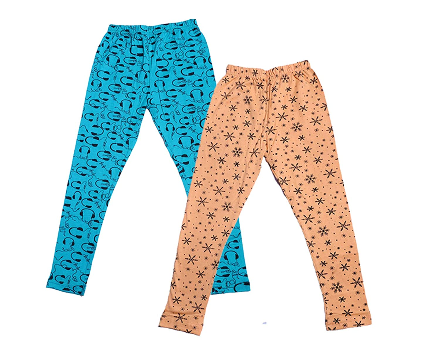 Pack Of 2 Indistar Girls Super Soft and Stylish Cotton Printed Leggings