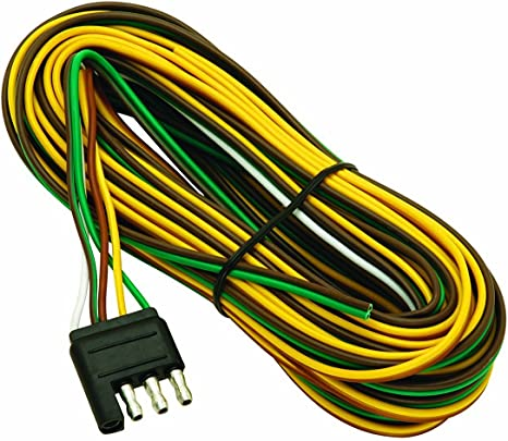wesbar 707261 wishbone style trailer wiring harness with 4 flat connector,3 feet 6 way trailer connector 6 way trailer wiring harness 100 feet #9